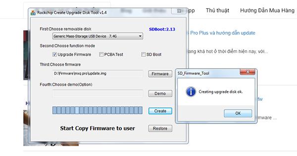 Hướng dẫn up firmware bằng usb thẻ nhớ cho các máy dùng rockchip (RK)