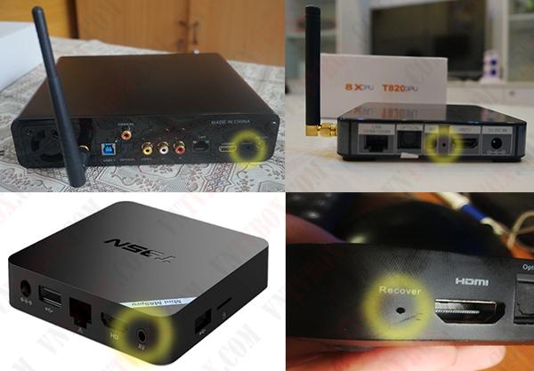 Hướng dẫn vào chế độ recovery boot mode của android tv box để flash fw