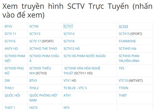 Hướng dẫn xem truyền hình SCTV full kênh miễn phí (cập nhật mới nhất)
