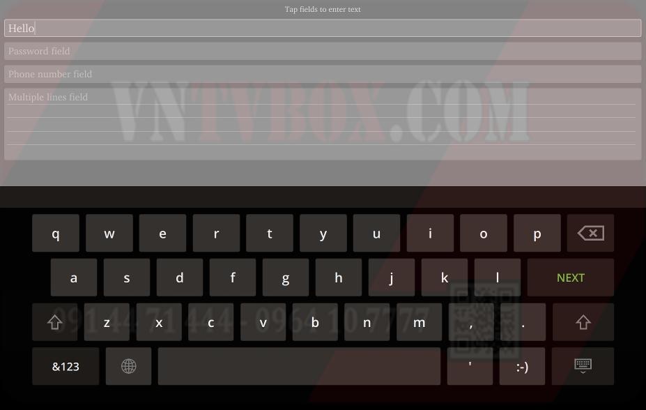 lỗikhông hiển thị bàn phím ảo trên Android TV Box