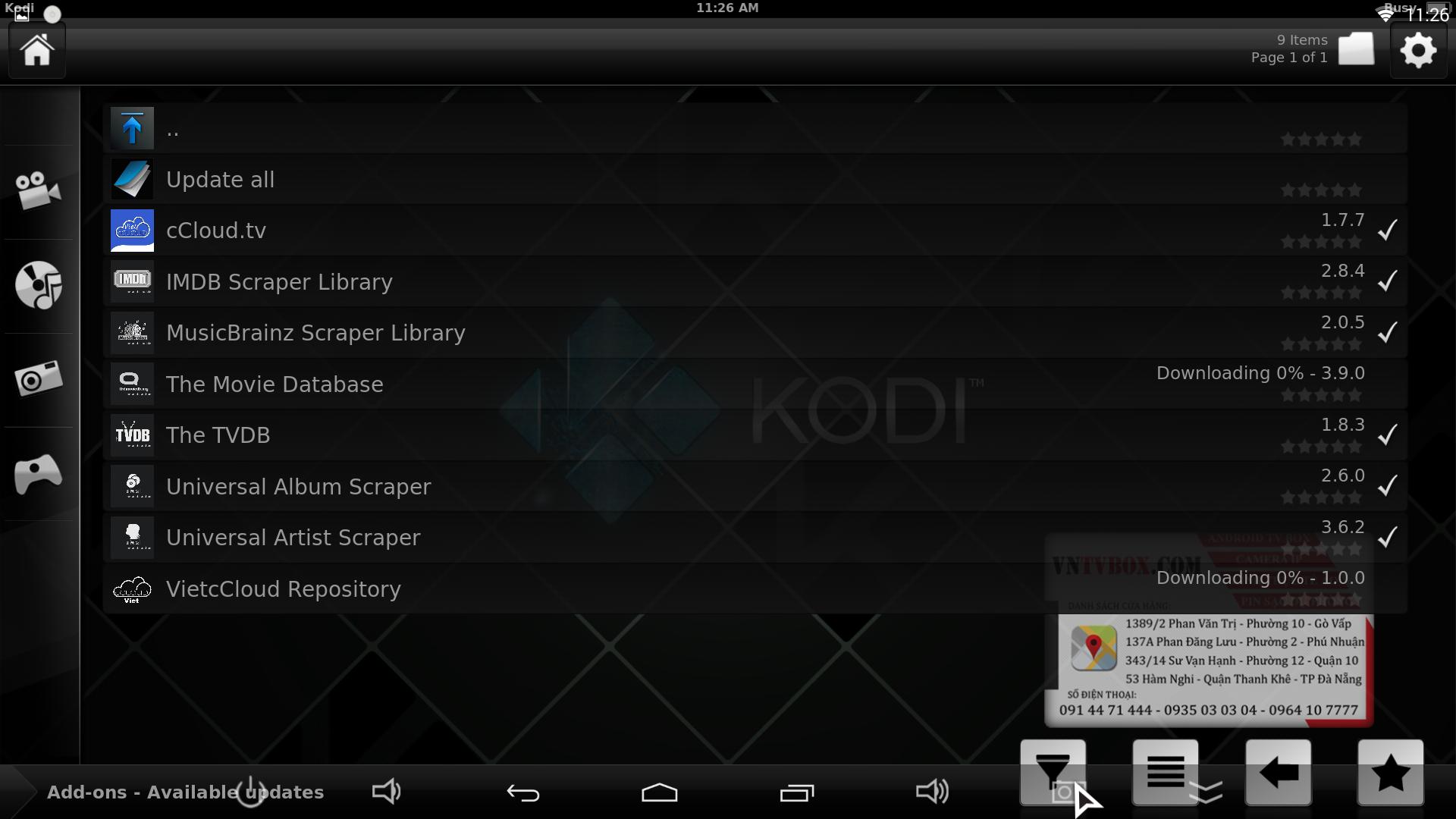 Giải quyết tình trạng dùng Kodi bị chậm đầy bộ nhớ load chậm