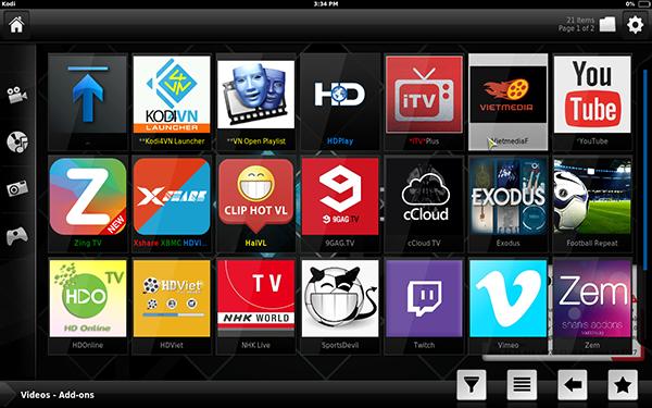 Dịch vụ cài đặt full app ứng dụng xem phim, nghe nhạc và xbmc dành cho android tv box tại nhà