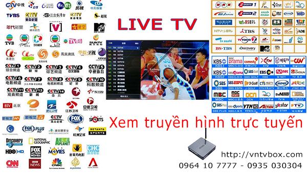 Live TV truyền hình Nhật Bản Hàn Quốc Trung Quốc HongKong