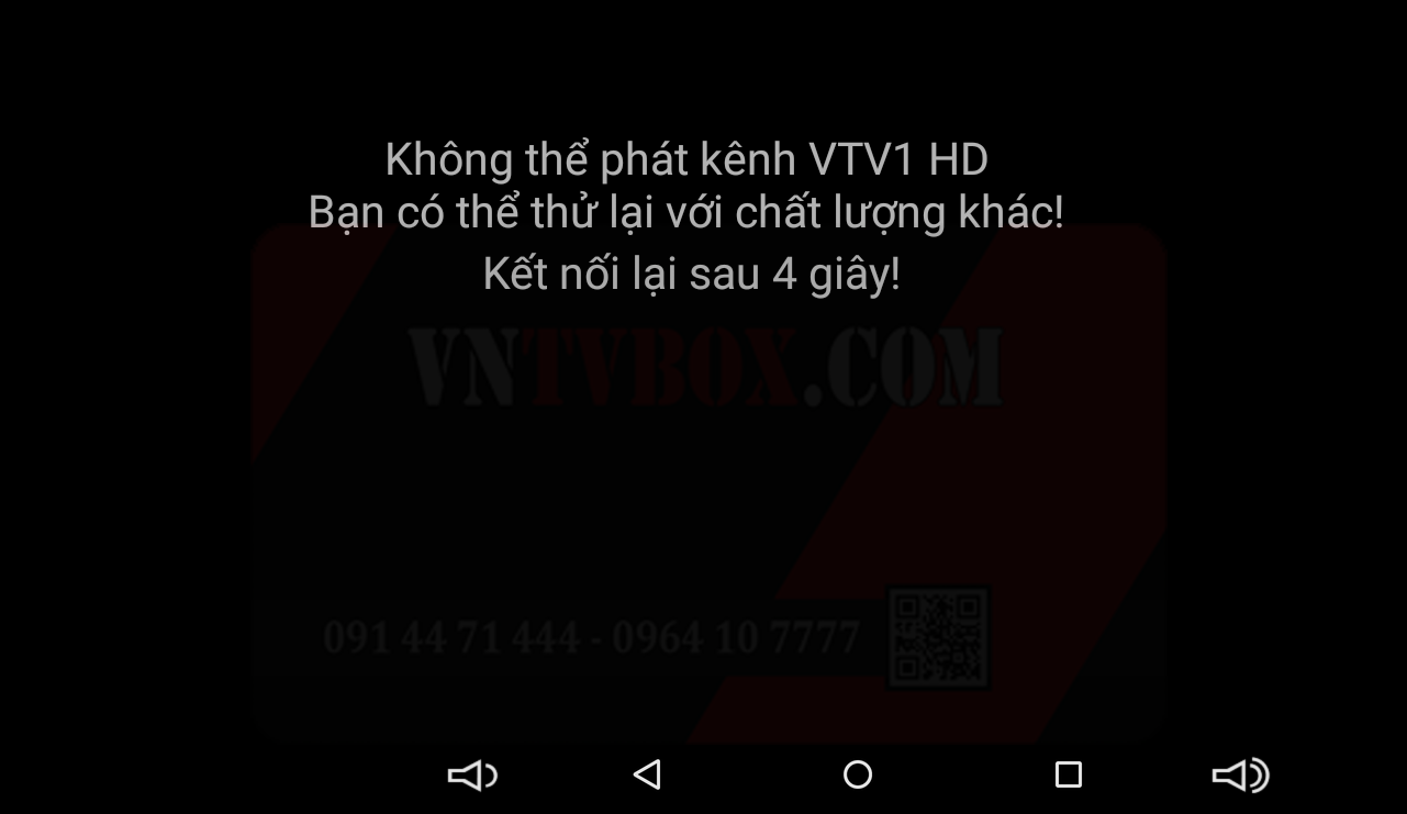 Fpt Play For Android TV box bị lỗi ko thể kết nối server thử lại...