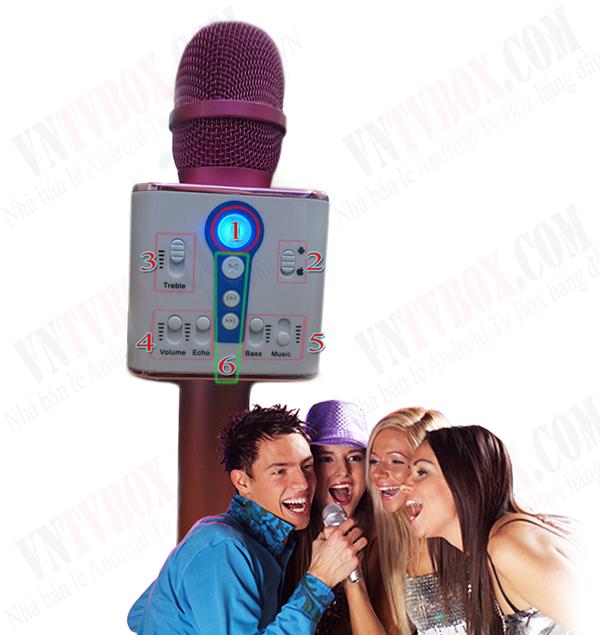Micro Karaoke kèm LoaBluetooth MAILIAN M1 3 LOAâm thanh lớn và hay