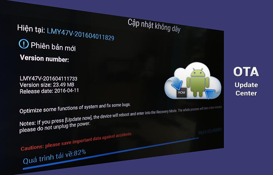 Phân biệt update firmware android tv box qua OTA và FOTA