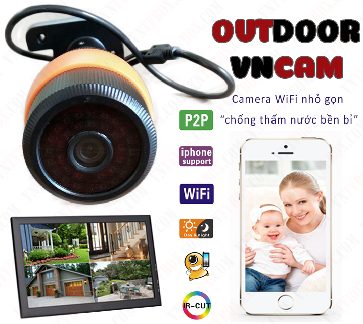 Camera ngoài trời Wifi Outdoor VNCam
