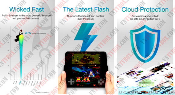 Chơi game xem phim ngay trên Puffin Web Browser hỗ trợ Flash cực mạnh