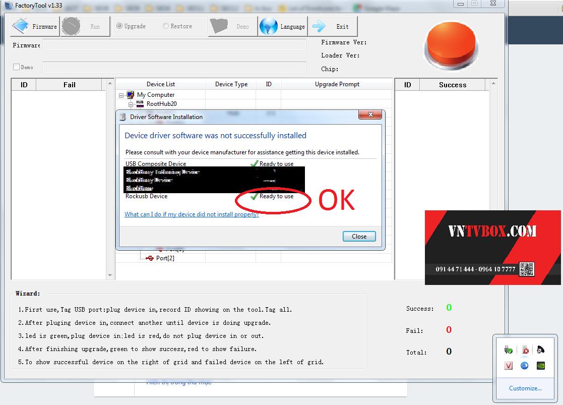 Cách up firmware 5.1sửa lỗi Vinabox X9 treo logo khởi động không lên