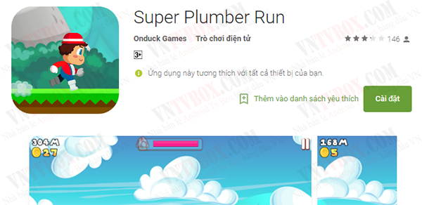 Super Mario Run phiên bản cho android tv box Plumber Run