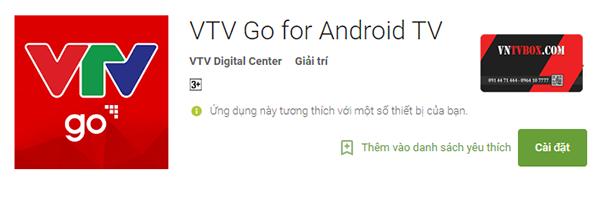 Tải ứng dụng chính thức của Đài Truyền hình Việt Nam cho android TV Box