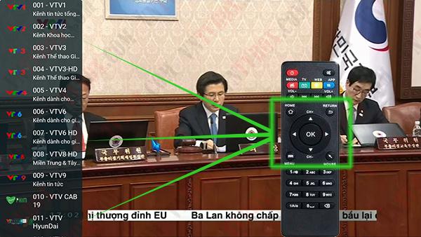 Tải ứng dụng xem truyền hình Magi TV dùng remote bấm số chuyển kênh HD