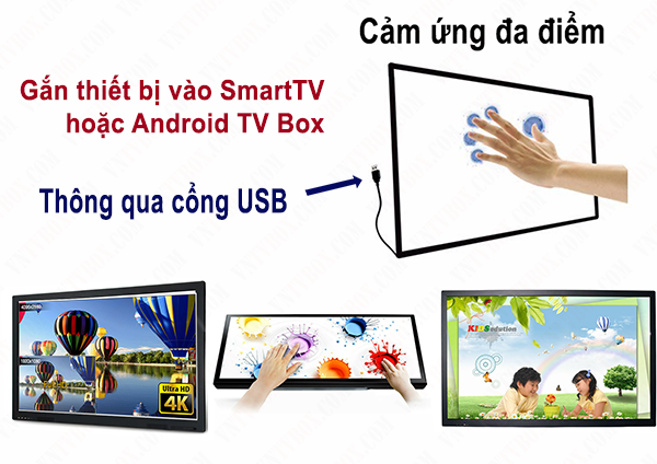 Khung cảm ứng Multi Touch Screen cho màn hình TV 49 inch