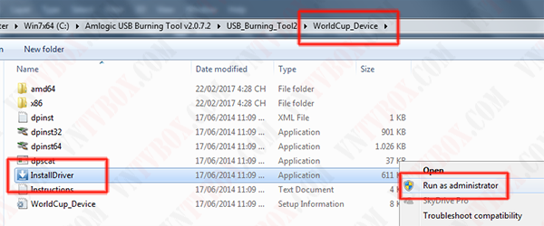Hướng dẫn sử dụng USB Burning Tool up firmware các tv box chip Amlogic