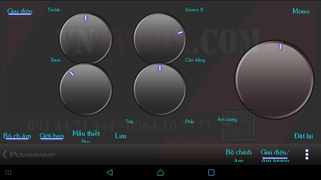 Tùy chỉnh nghe nhạc cực đỉnh trên Android Box với Power AMP