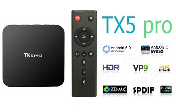 TV Box TX5 Pro Amlogic S905X Ram 2GB Rom 16GB mạnh mẽ siêurẻ