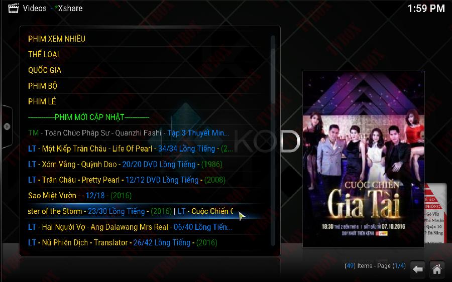 Chia sẻ ứng dụng chuyên phim Thuyết Minh phim bộ TVB trên Android Box