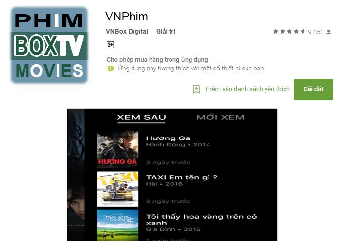 Ứng dụng xem phim siêu nhanh và đẳng cấp VNPhim
