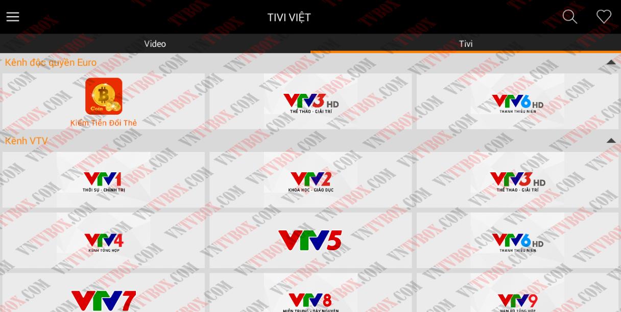 Thêm ứng dụng xem truyền hình tốt trên Android TV Box