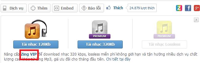 Chia sẻ VIP ứng dụng Zing Mp3 VIP nghe nhạc xem video thả ga
