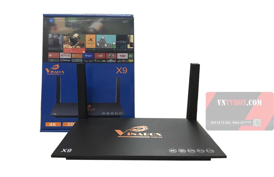 TV Box Vinabox X9 sản phẩm giá rẻ được người Việt tin dùng