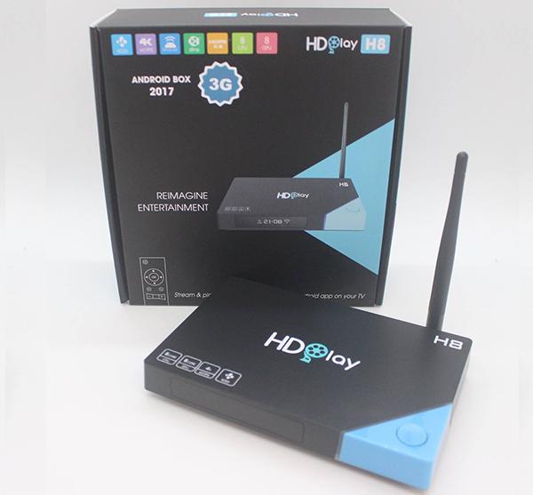 Box Tivi HDPlay H8 thương hiệu Việt Nam 3GB Ram CPU 8 nhân 2017