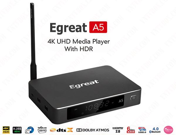 Egreat A5 chuyên 4K Ultra HD Blu-ray CPU Hi3798C V200