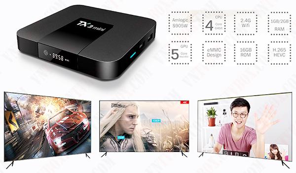 Sản phẩm TV Box Tanix TX3 Mini được đánh giá cao nhất phân khúc giá bình dân