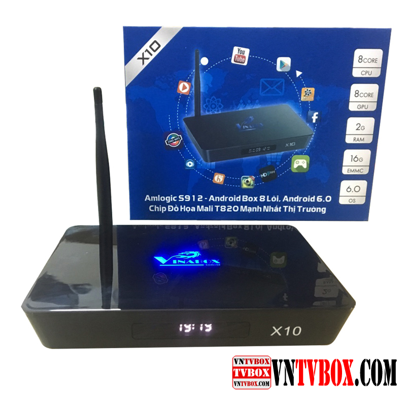VINABOX X10 Amlogic S912 Ram 2GB Rom 16Gb siêu phẩm tầm trung