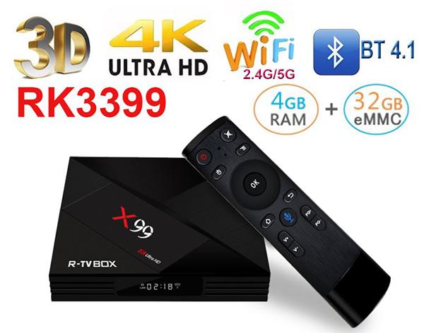 X99 Android TV Box cấu hình đỉnh ram 4GB hỗ trợ gắn SIM