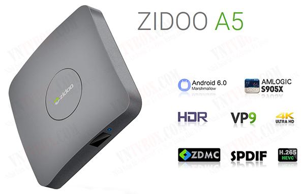 Zidoo A5Amlogic S905X ram 1GB giá rẻ cấu hình tầm trung