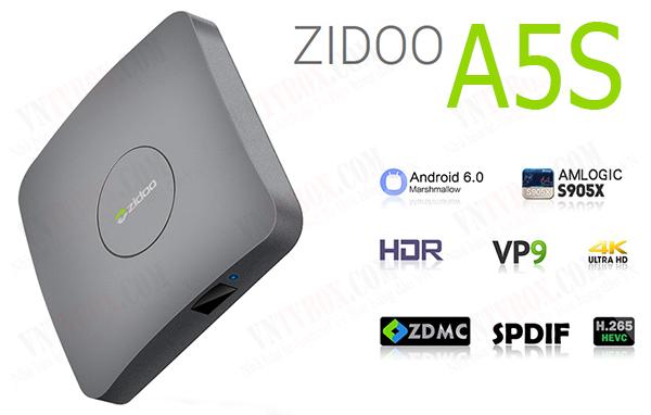 Zidoo A5S Amlogic S905X ram 2GB mạnh mẽ giá cạnh tranh