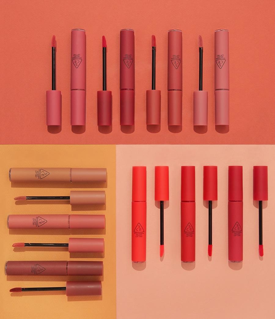 Bảng màu son kem lì 3CE Velvet Lip Tint đầy đủ nhất