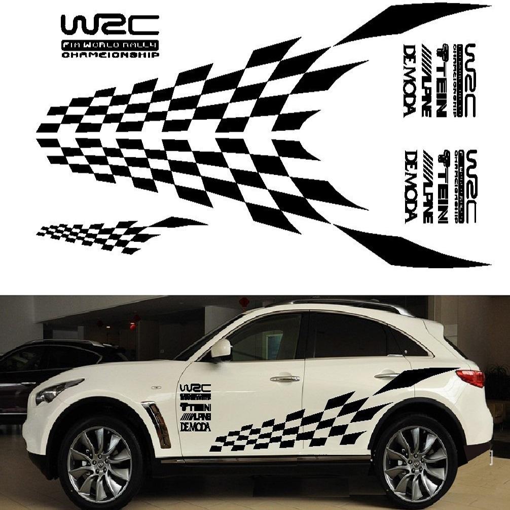 Tem đề can sườn xe WRC theo bộ  loại lớn B02_020