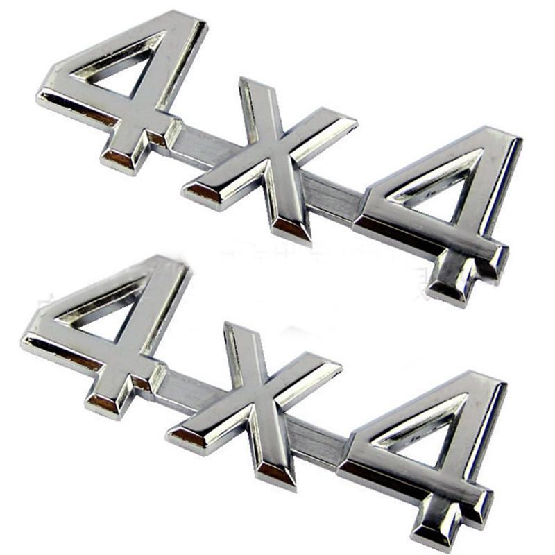 Chữ 4x4 kim loại độ xe hơi B12_006