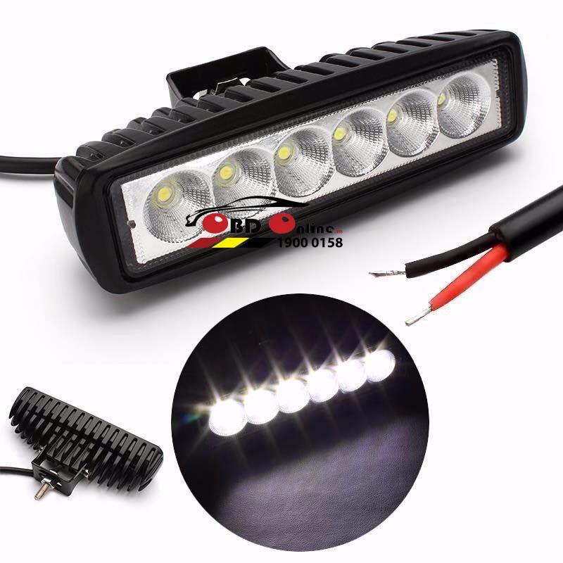 Đèn Tăng Sáng LED 6 Bóng Ngang 18W ( Bộ 2 bóng)