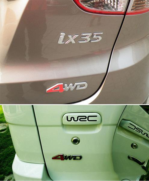 Chữ nổi độ xe hơi 2.0 Kim loại tinh khiết xe hơi B12_008
