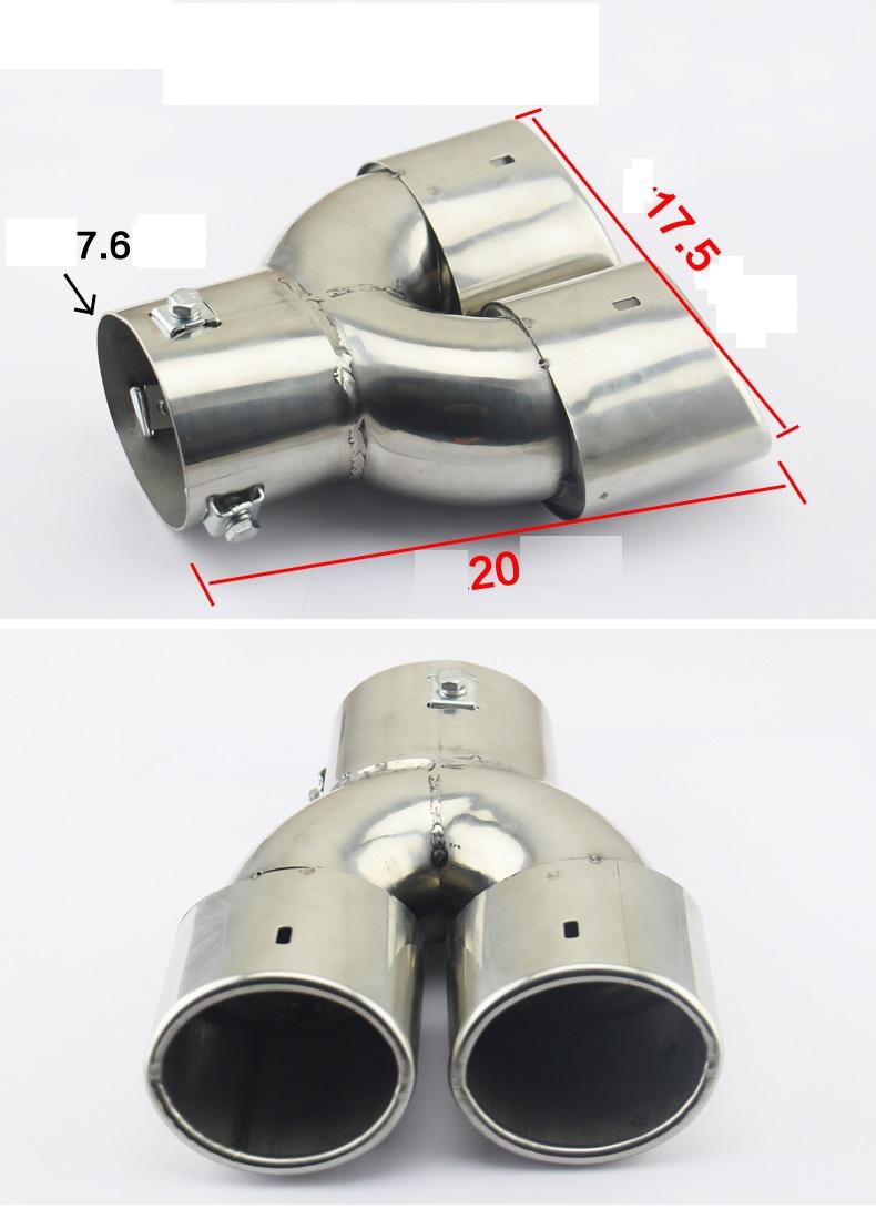 Ống xả độ kép thẳng xe hơi OBD B11_010