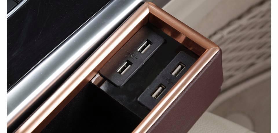 Khay Để Đồ , Cốc Cạnh Ghế Có Đầu USB