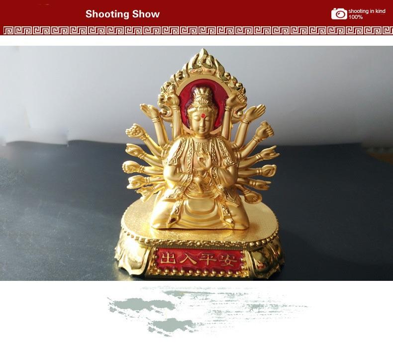 Nước hoa Phật Bà Quan Thế Âm Bồ Tát mạ vàng 24k Cao cấp xe hơi A09_032