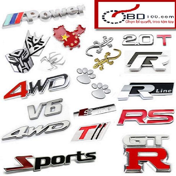 Độ chữ nổi ABS xe hơi B12_009