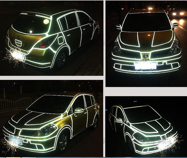 Băng dán 3M phản quang cao cấp xe hơi B12_137