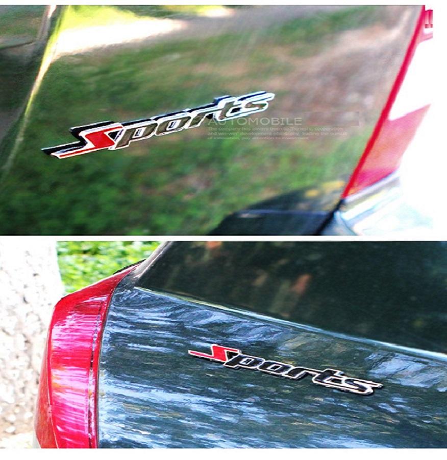 Chữ nổi spost kim loại trang trí xe hơi B12_010