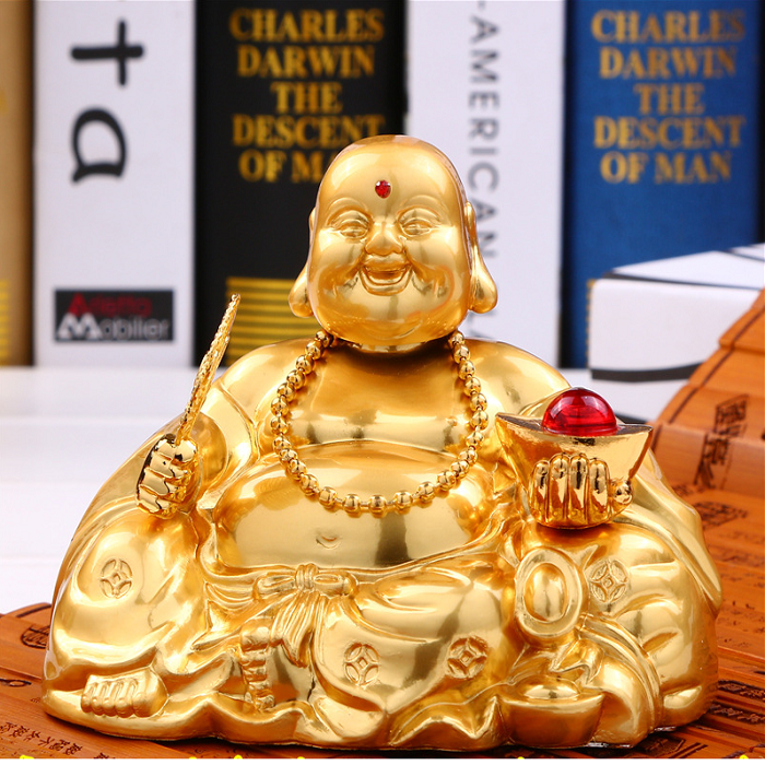 Nước hoa Phật Bồ Tát mạ vàng 24K xe hơi OBD A09_034