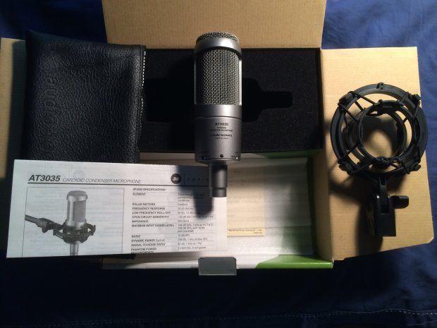 Micro thu âm Audio Technica 3035