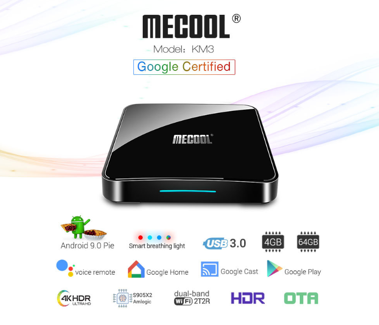 Mecool KM3 RAM 4G/64GB Android 9 TV Box