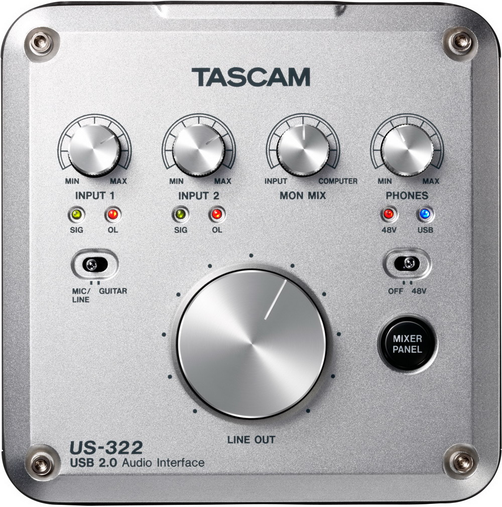 Sound card thu âm USB Tascam US-322