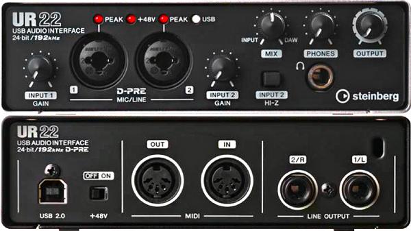 Sound card thu âm Steinberg UR22