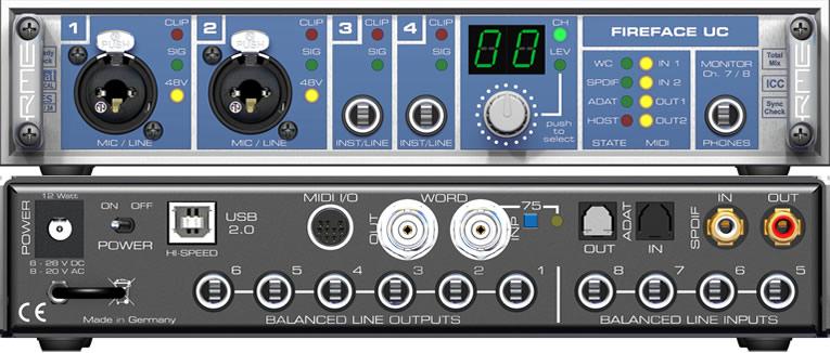 Sound card thu âm RME Fireface 400 Firewire
