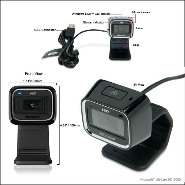 Webcam Microsoft LifeCam HD-5000